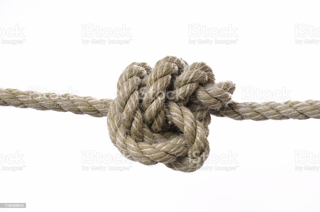 rope and knot royalty-free stock photo