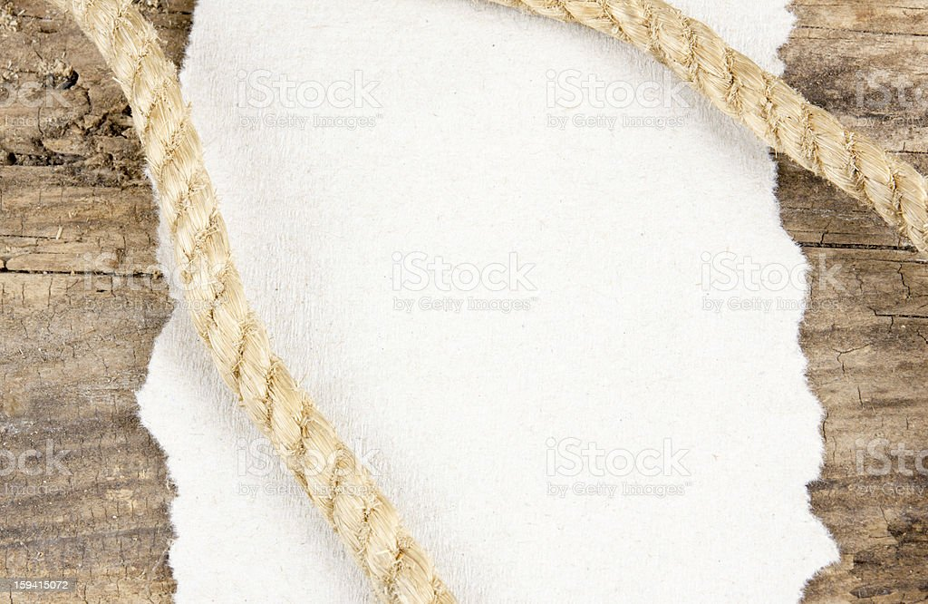 Rope And Wood Background stock photo