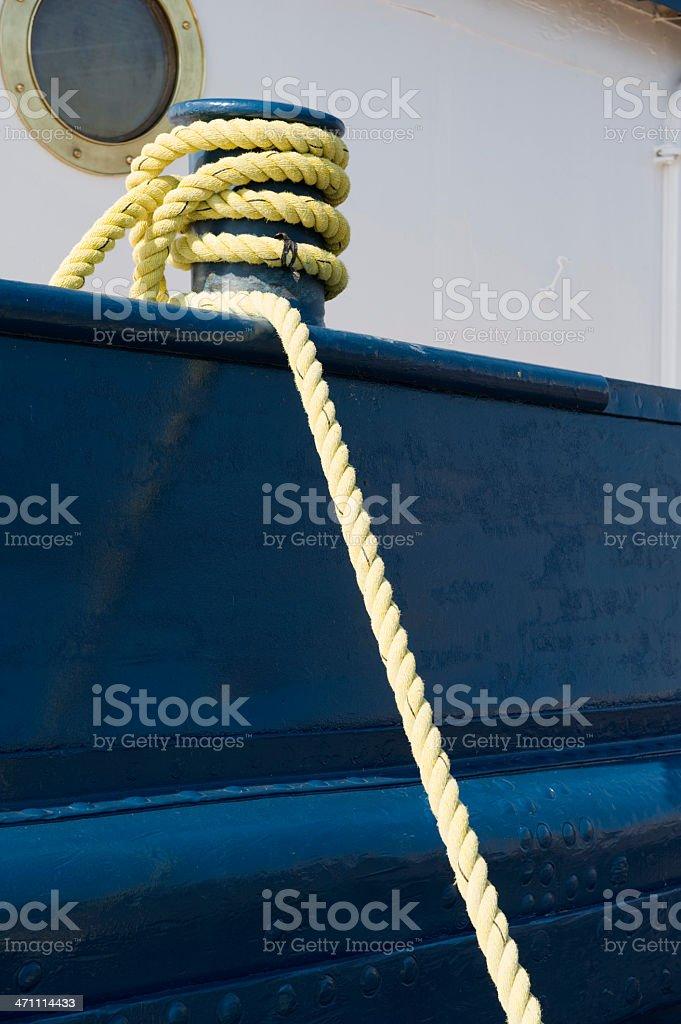 Rope around post royalty-free stock photo