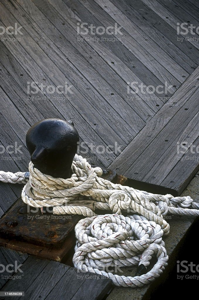 Rope at the Docks royalty-free stock photo