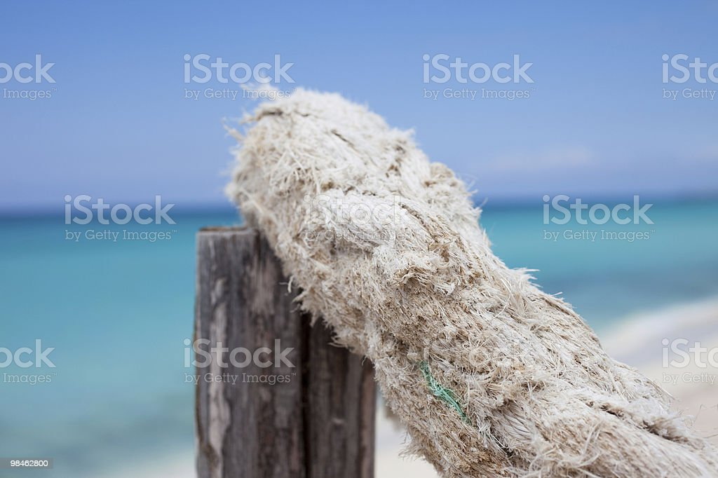 Rope at the pier royalty-free stock photo