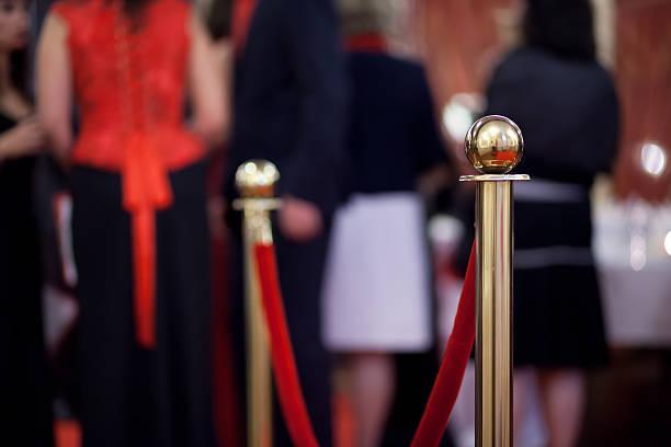 barreira de corda na cerimônia de premiação - eventos de gala - fotografias e filmes do acervo