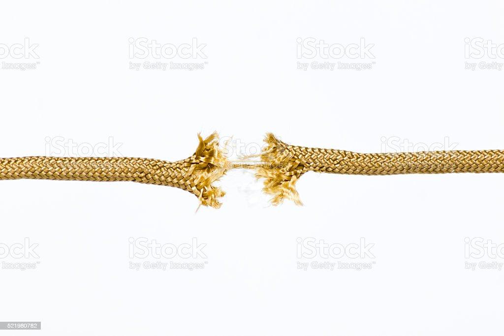 Rope Breaking stock photo