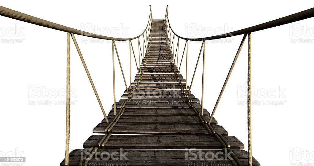 Rope Bridge Close Up stock photo