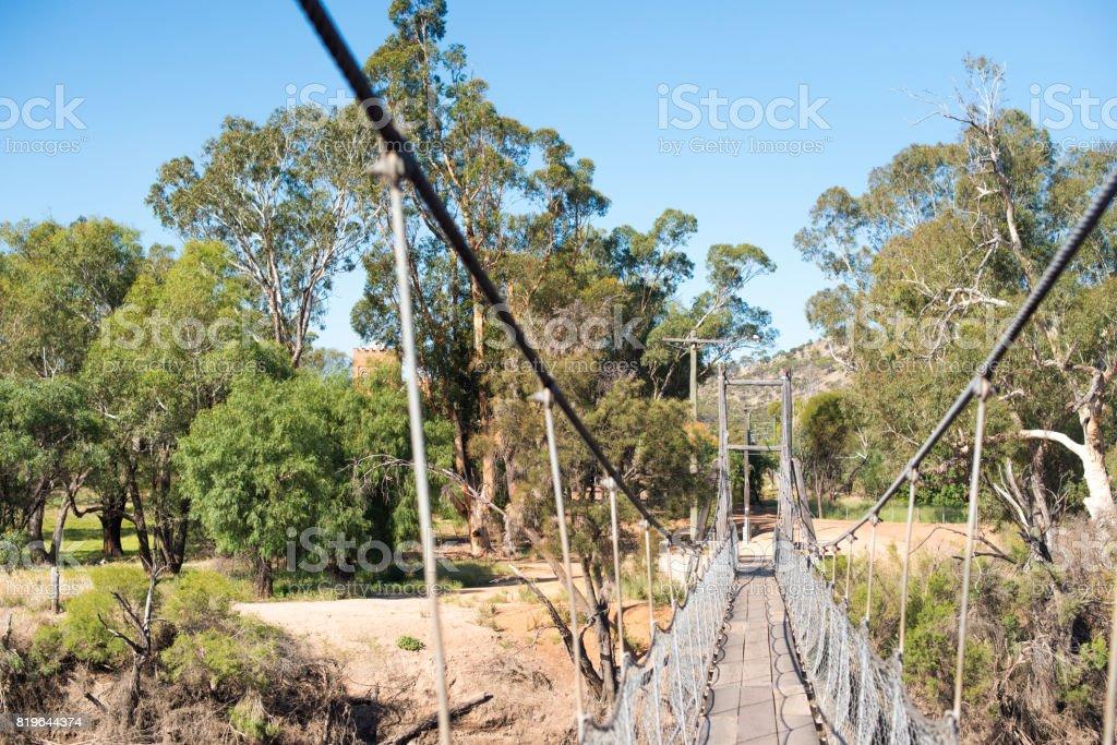 Rope bridge in York, Western Australia royalty-free stock photo