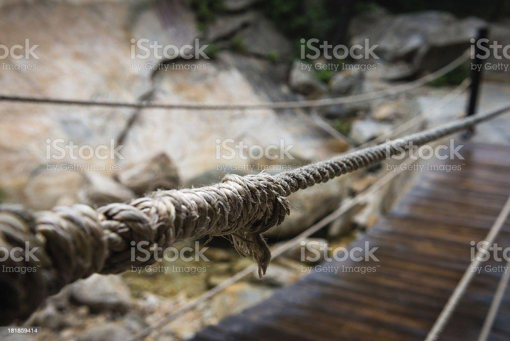 Rope Bridge stock photo