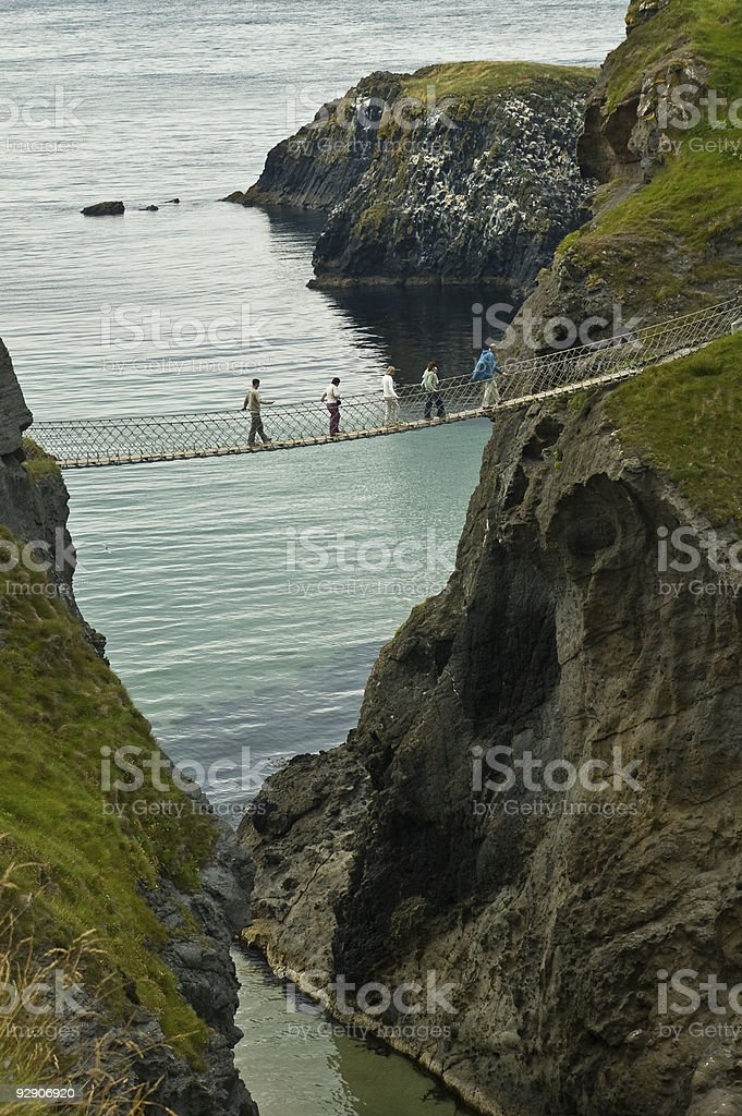 Rope Bridge royalty-free stock photo