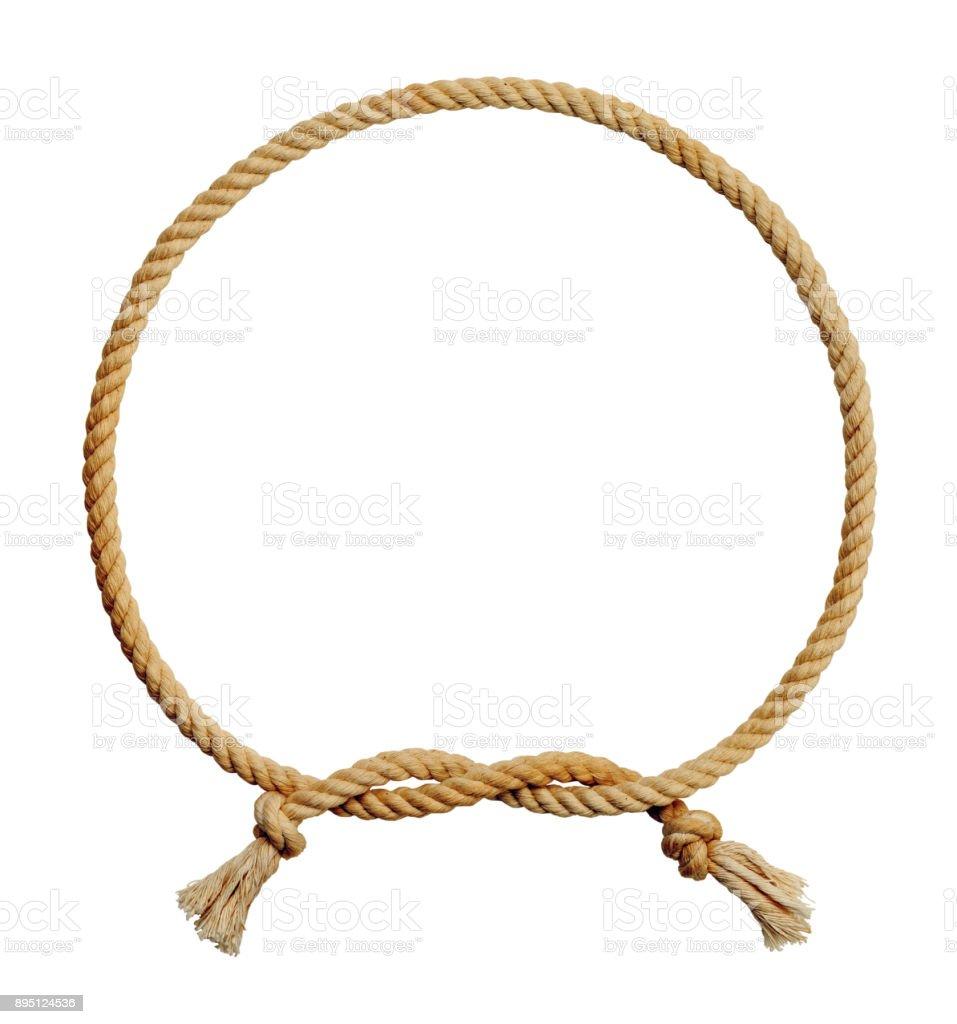 Rope Circle Knot stock photo