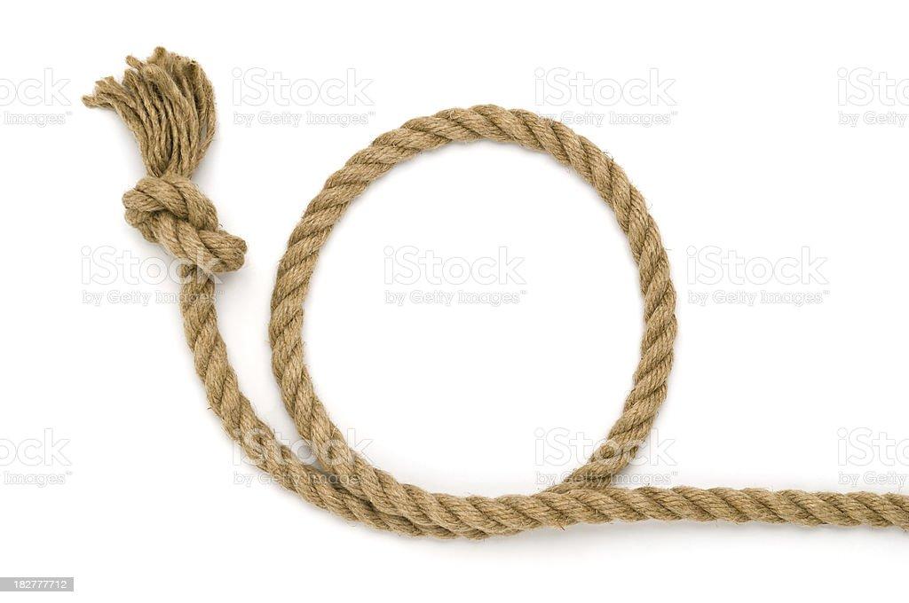Rope circle stock photo