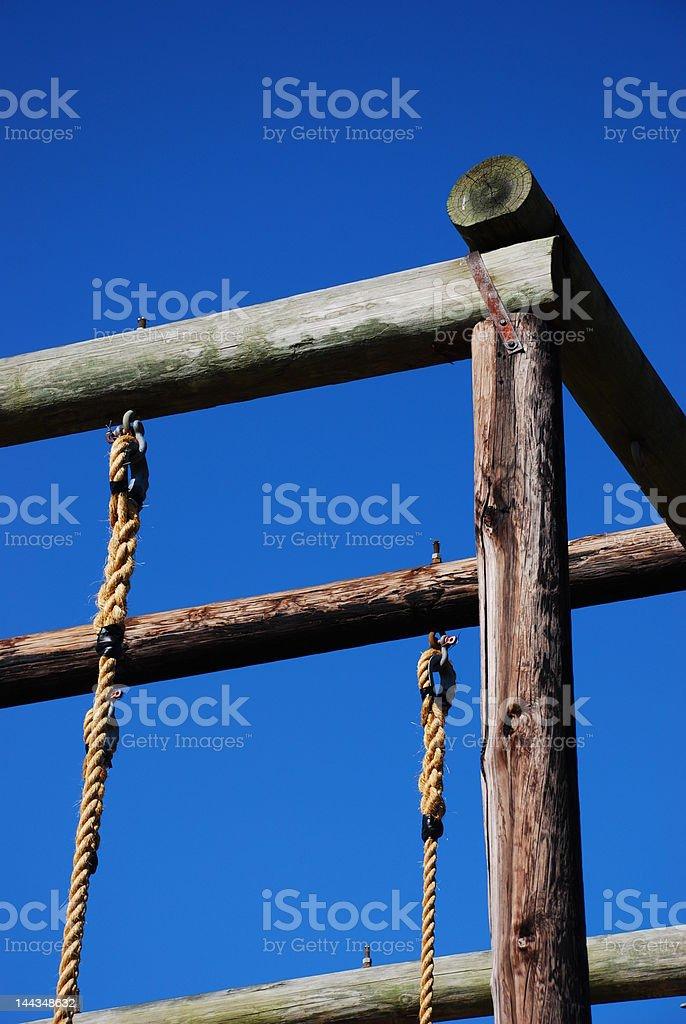 Rope Climb stock photo