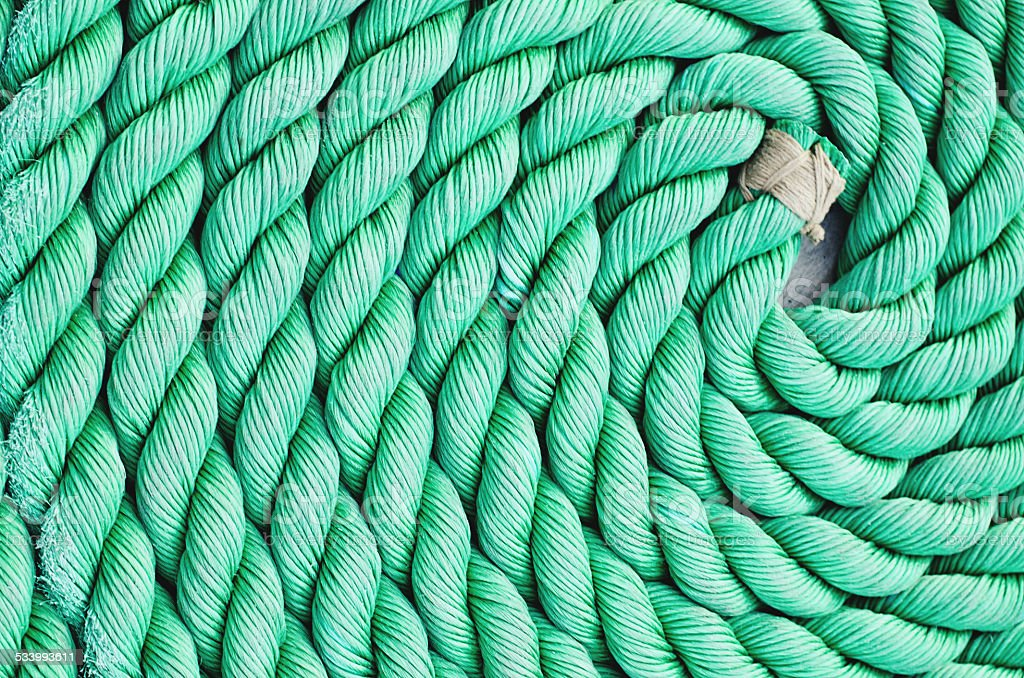 Rope Coil stock photo