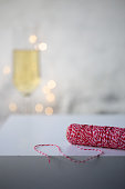 rope for gifts. New year celebration and christmas concept