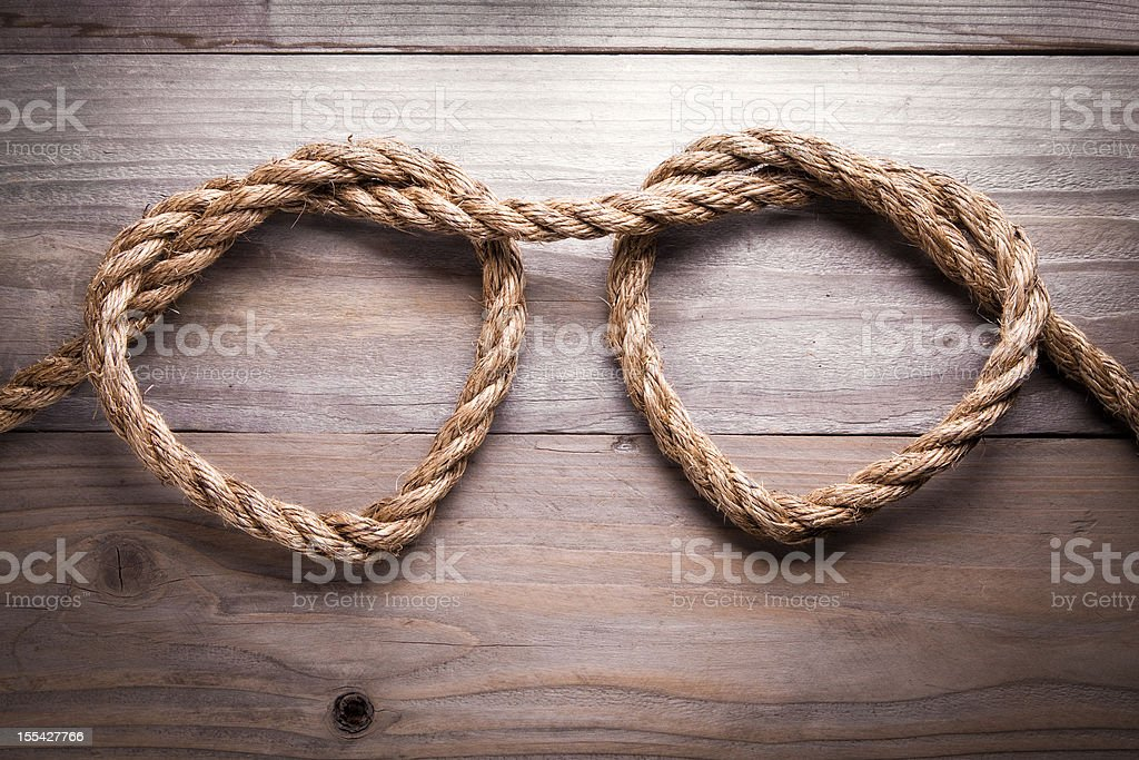 Rope Heart stock photo