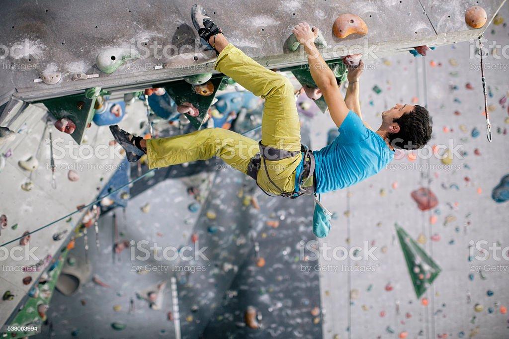 Seil indoor-Klettern und Schulungen. – Foto