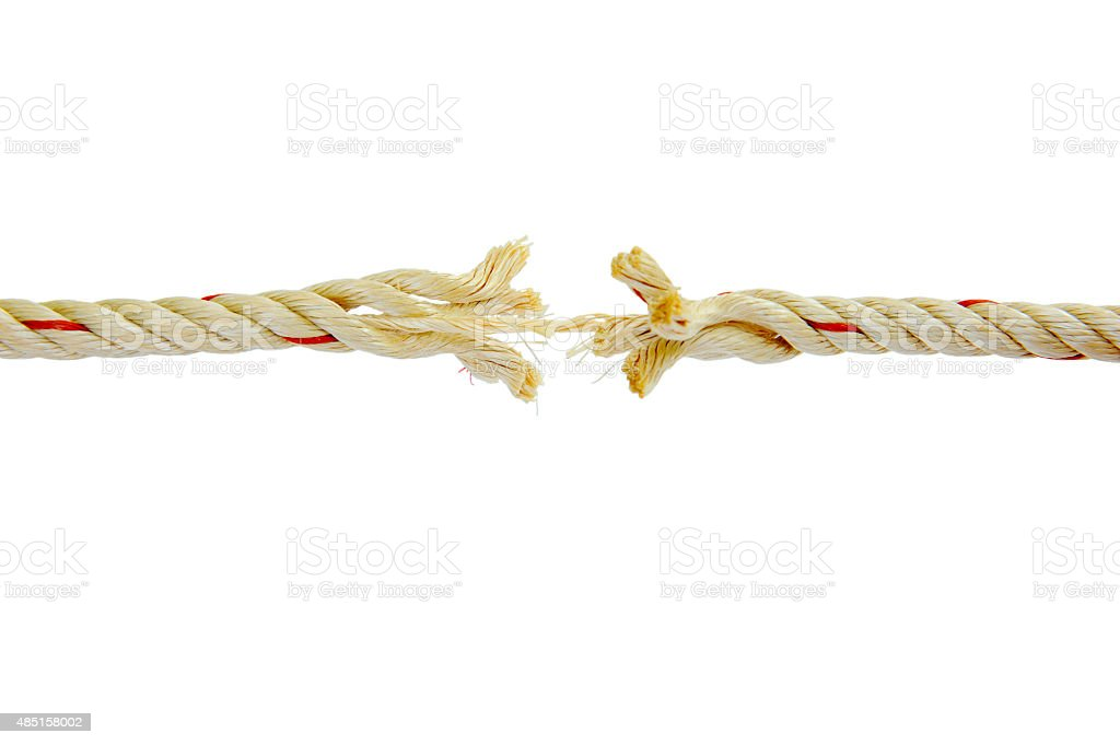 Rope is almost absent stock photo