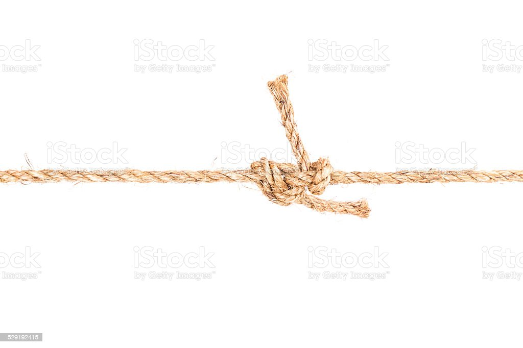 rope knot stock photo