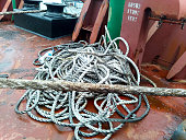 istock Rope ladder on the ship. Rope and wood 903360932
