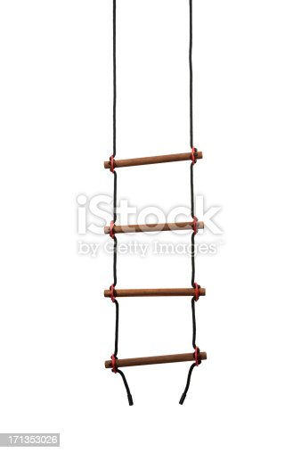 rope ladder isolated on white