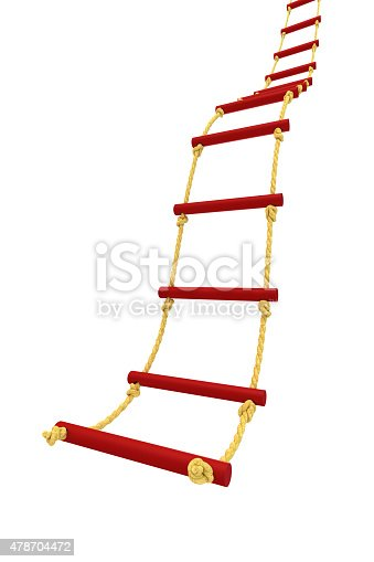 Rope ladder isolated on white background