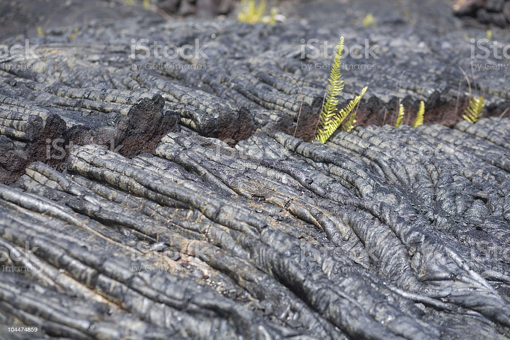 Rope Lava with Crack stock photo