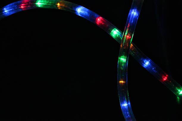 seil lights - lichtschlauch stock-fotos und bilder