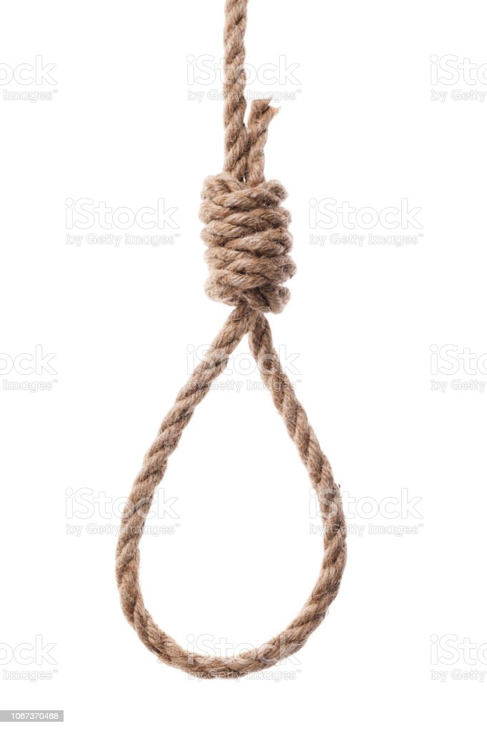 Rope loop isolated on white background stock photo