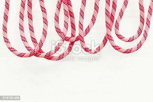 Loops of rope with copy space below. Processed in AdobeRGB colorspace.