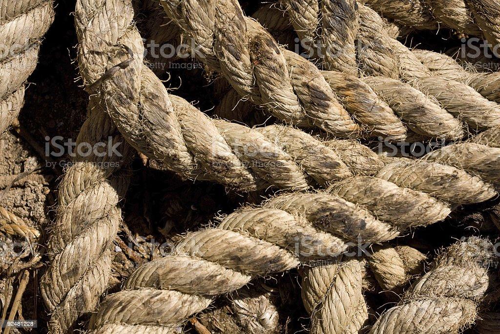 Rope macro royalty-free stock photo