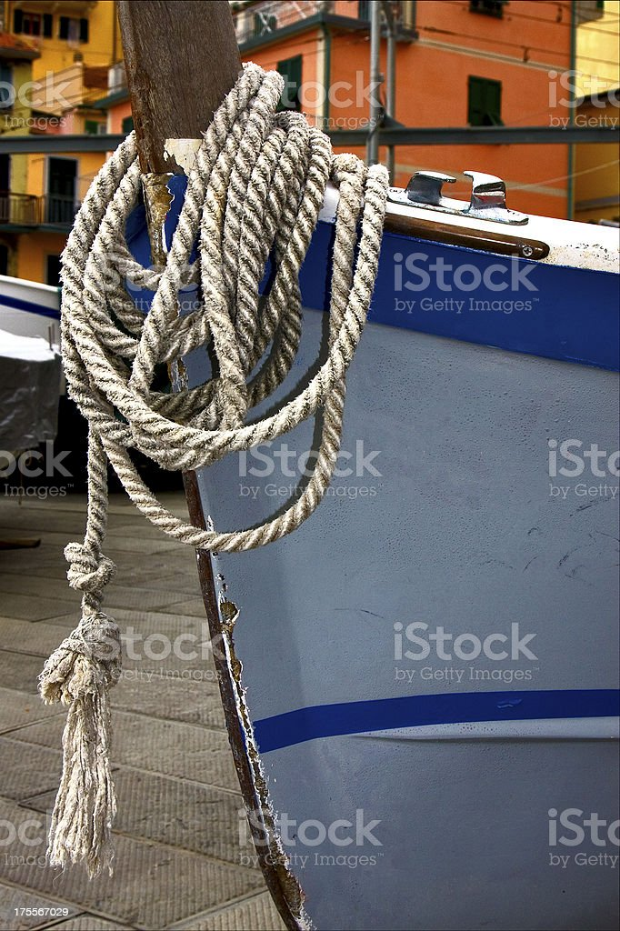 rope manarola royalty-free stock photo