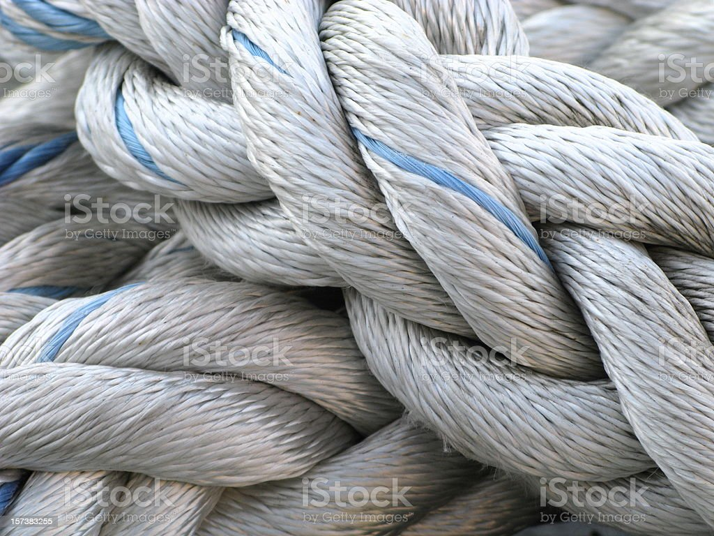 Rope Nautical Marina stock photo