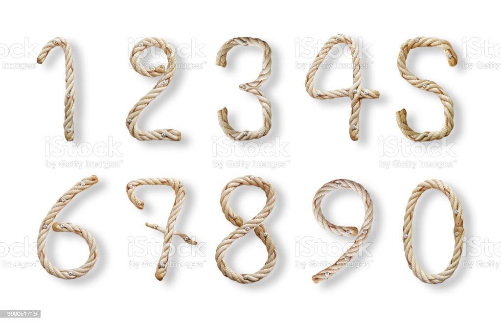 Rep nummer alfabetet - Royaltyfri Alfabet Bildbanksbilder
