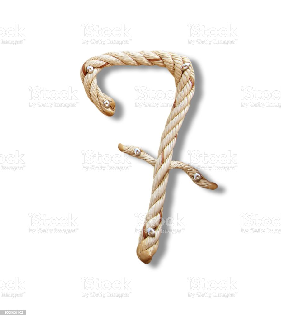 Rope Number Alphabet - Royalty-free Advertisement Stock Photo