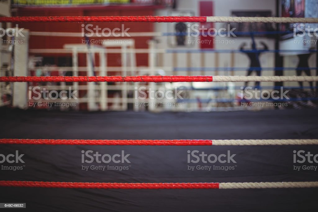 Rope of boxing ring stock photo