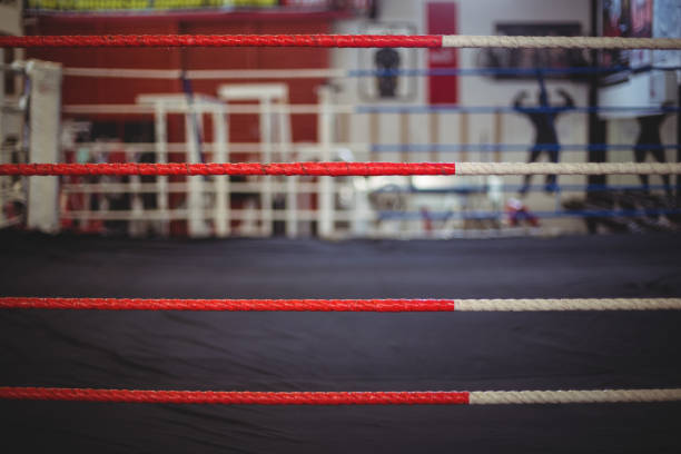rope of boxing ring - wrestling stock photos and pictures