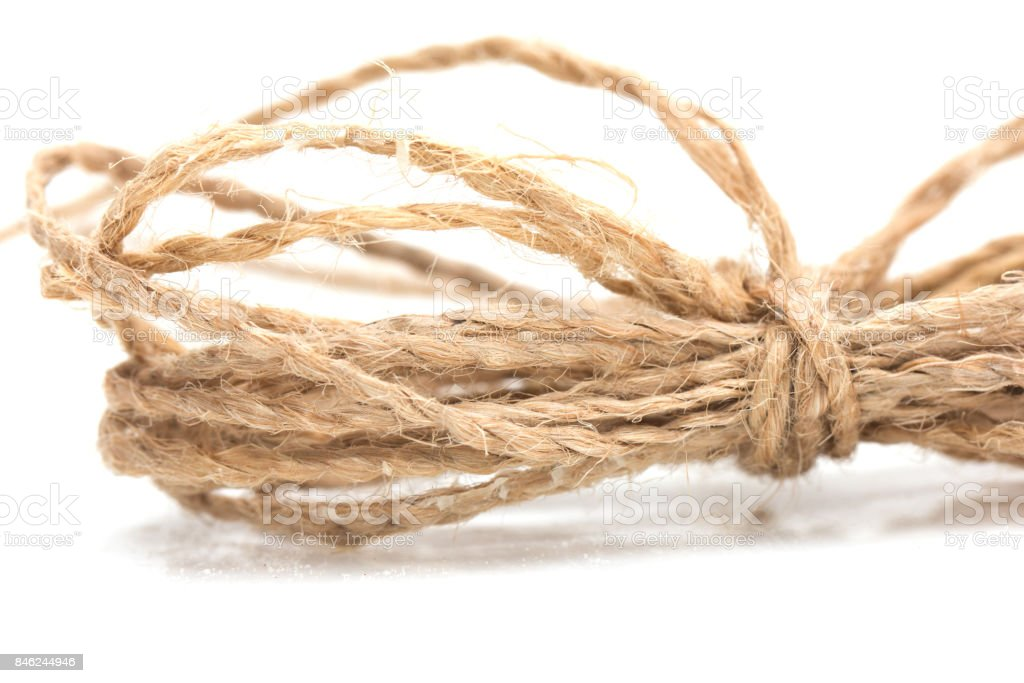 rope on a white background stock photo