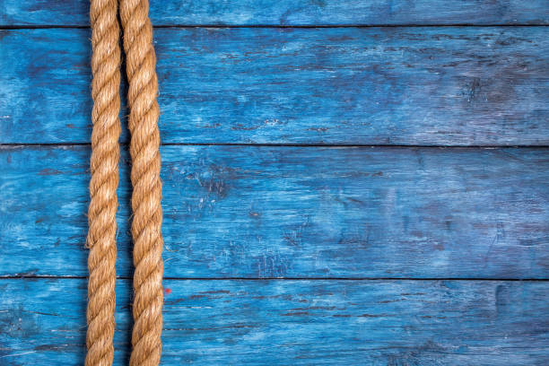 Cтоковое фото Rope on deep blue board