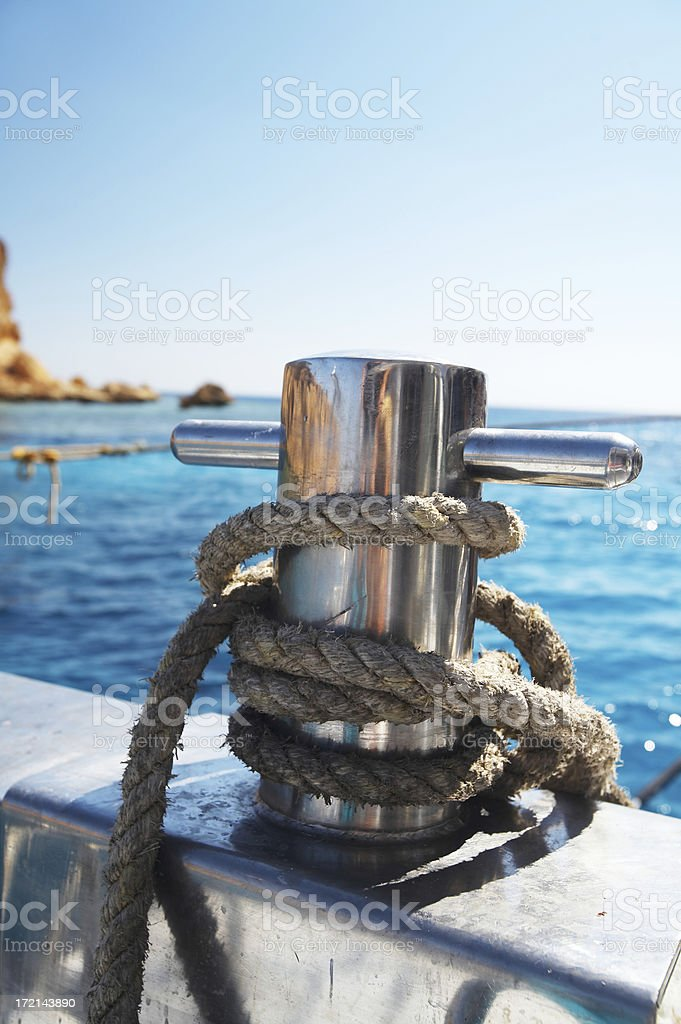 Rope on knight royalty-free stock photo