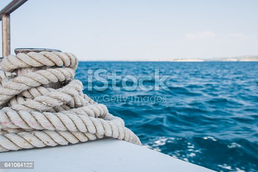istock Rope on the boat - detail 641064122