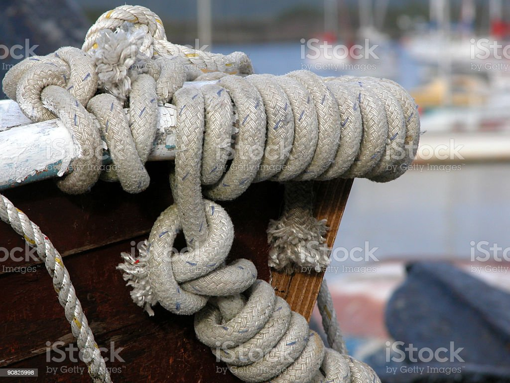Rope on the bow royalty-free stock photo