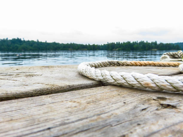 Rope on the Dock stock photo