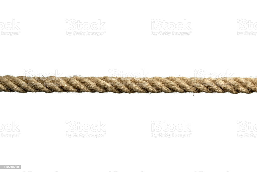 rope on white background royalty-free stock photo