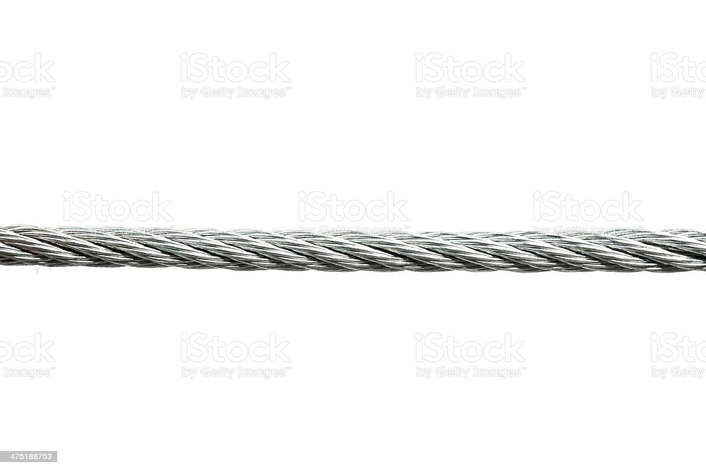 Rope on white stock photo
