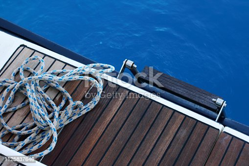 Rope on yatch deck
