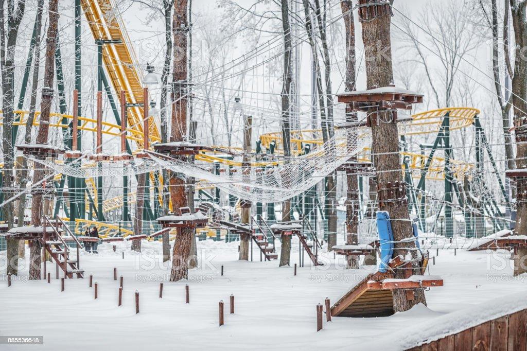 Rope park. stock photo