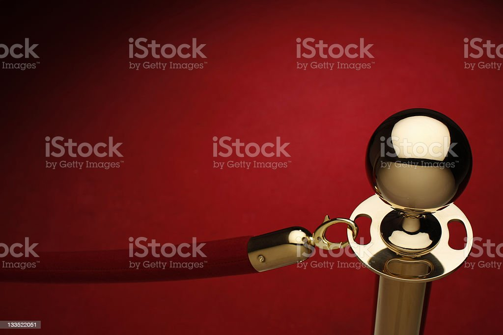 VIP rope stock photo