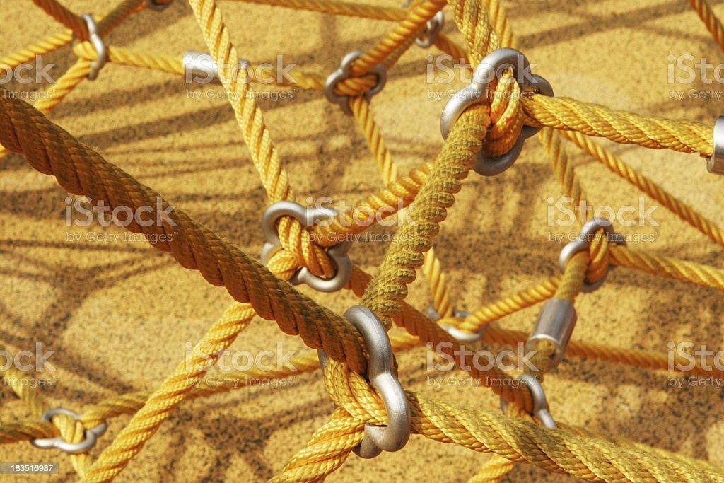 Rope Playground Climbing Equipment Abstract stock photo