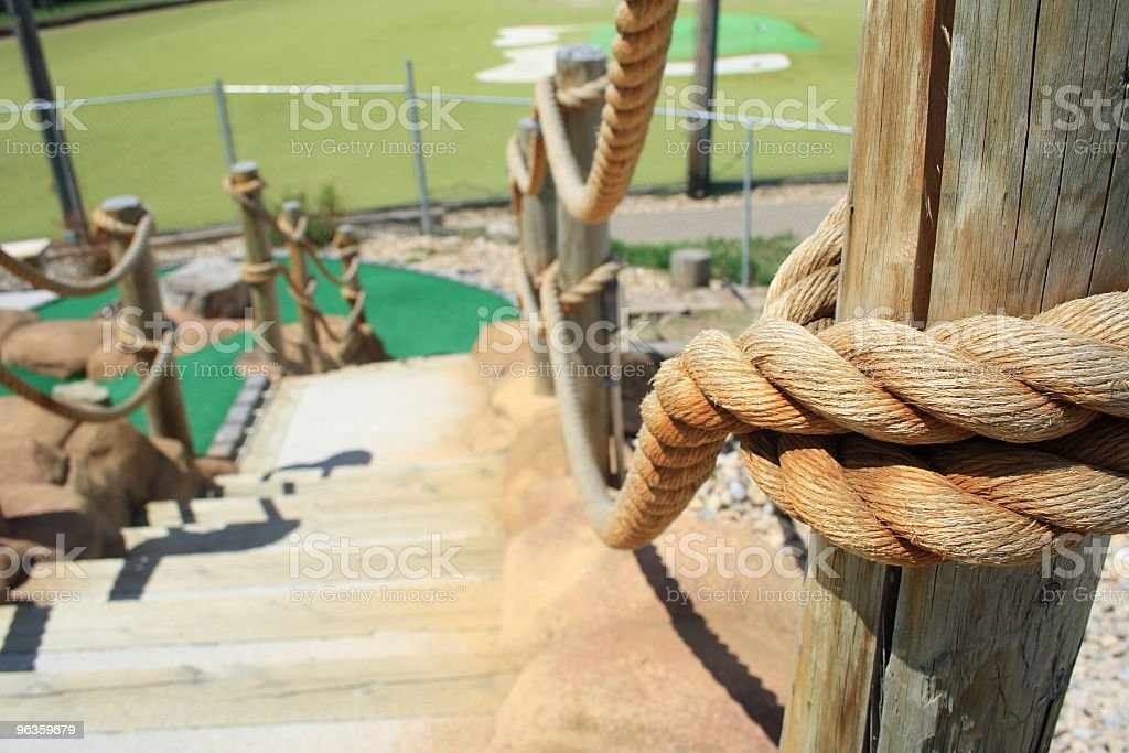 rope rails lend a hand down these steps royalty-free stock photo