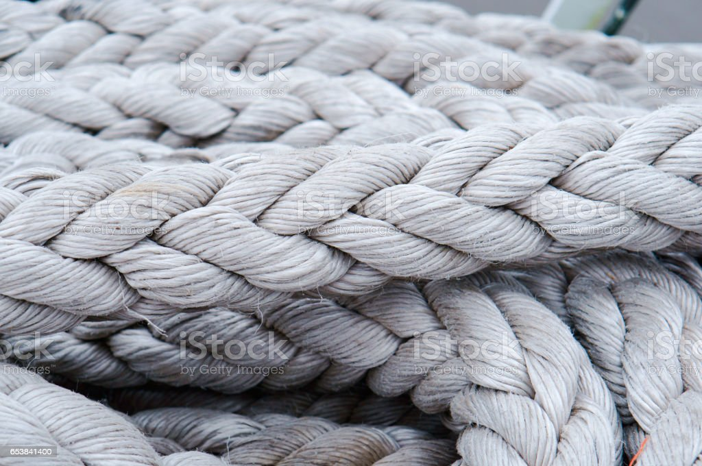 Rope Rigging Rope Cord Mooring Line Twine Webbing Cord Stock Photo -  Download Image Now