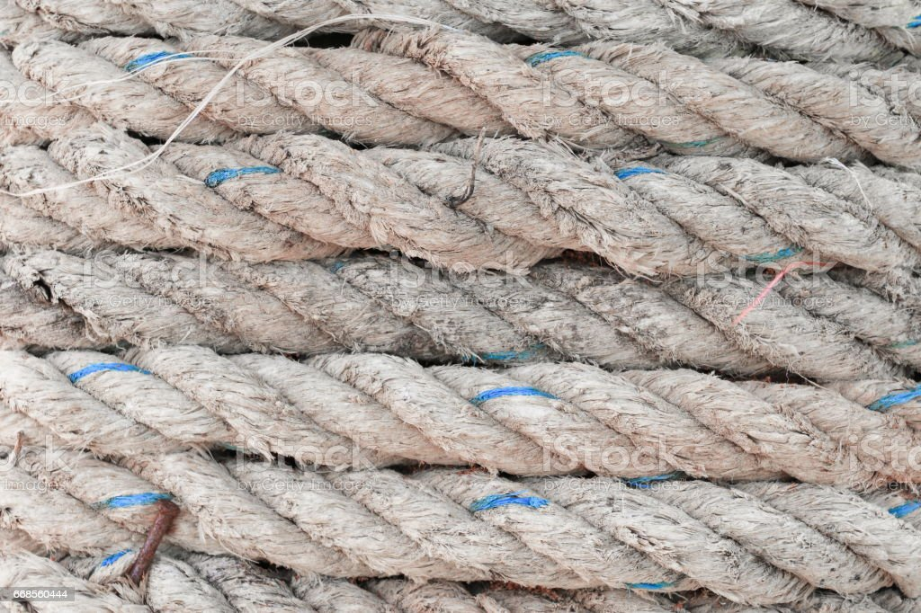 rope roll  background and texture stock photo