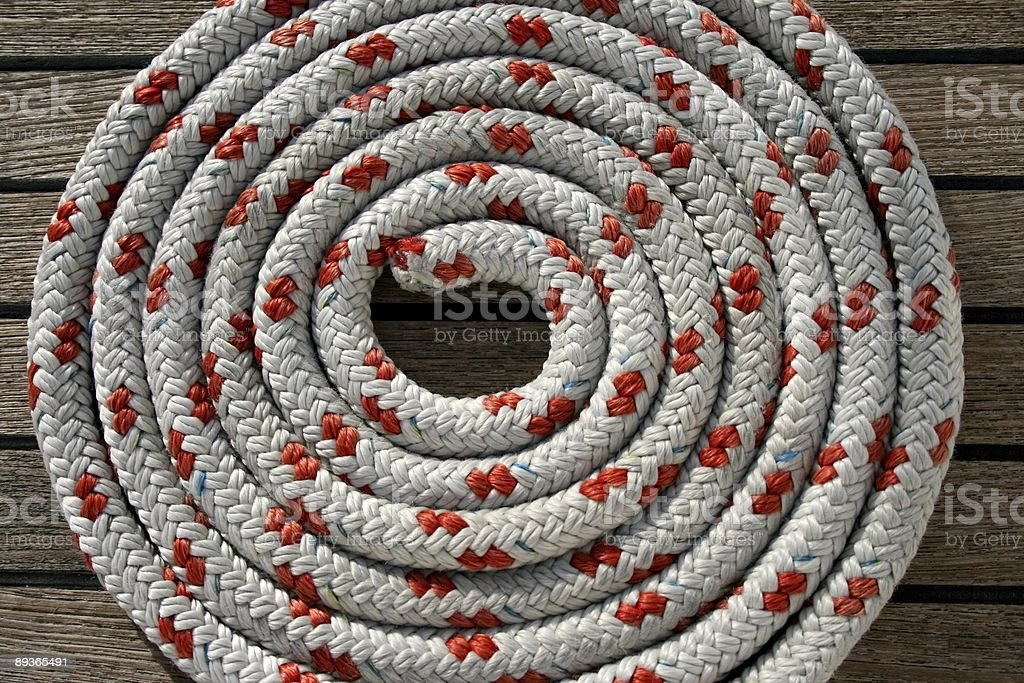 Rope spiral royalty-free stock photo
